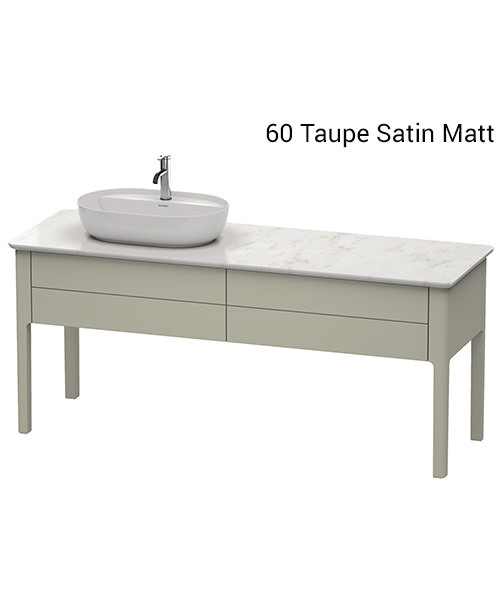 Additional image of Duravit Luv 1733 x 570mm Left Handed Vanity Unit