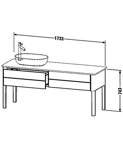 Technical drawing 41405 / LU9563L3636