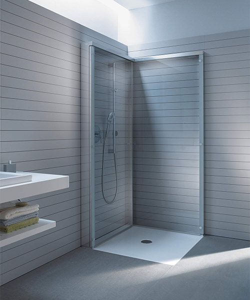 Alternate image of Duravit OpenSpace 785 x 785mm Square Shower Screen For Tap On Left Side