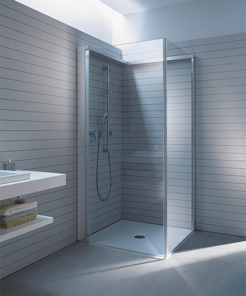 Alternate image of Duravit OpenSpace 885 x 885mm Square Shower Screen For Tap On Left Side