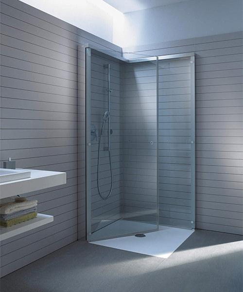 duravit openspace 985 x 885mm rectangle shower screen for tap on left side. Black Bedroom Furniture Sets. Home Design Ideas