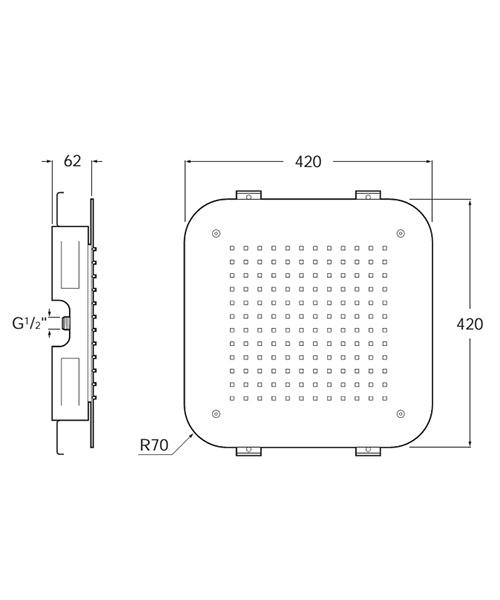 Technical drawing 52348 / 5B9378C00