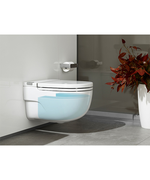 Roca Meridian-N In-Tank Wall Hung WC With Cistern And I-Type Support For Solid Walls