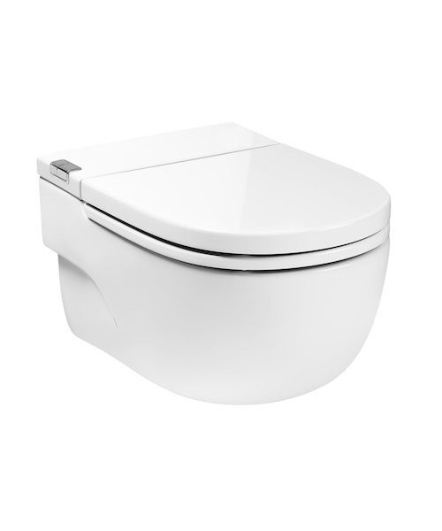 Additional image of Roca Meridian-N In-Tank Wall Hung WC With Cistern And I-Type Support For Solid Walls