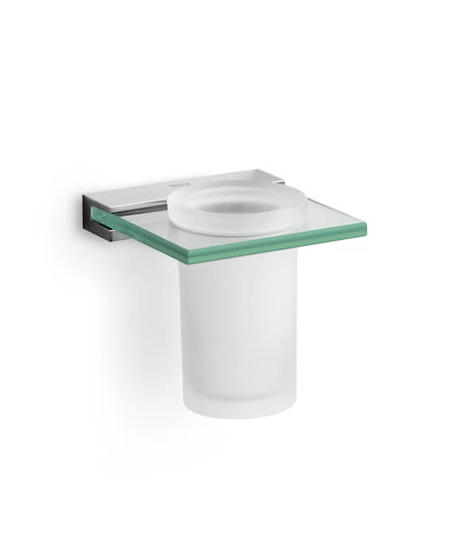 Roca Nuova Tumbler Holder And Glass Wall Mounted
