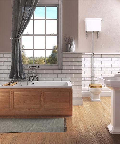 Additional image of Pura Imex Wyndham Traditional High Level WC Set