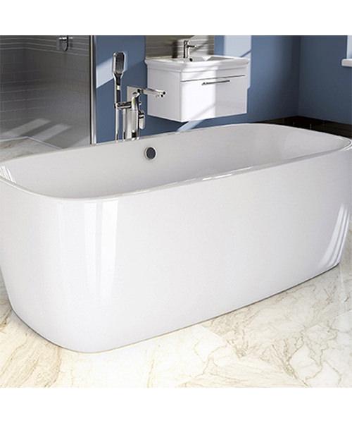 Additional image of Pura Platto 1700 x 810mm Freestanding Bath