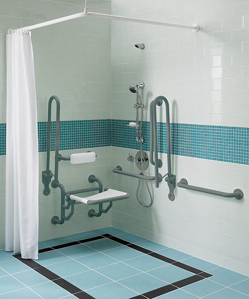 Additional image of Twyford Doc.M Shower Pack With Grab Rails And Seat