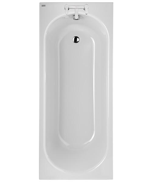 Twyford Opal White 1700 x 700mm Plain 2 Tap Hole Acrylic Bath