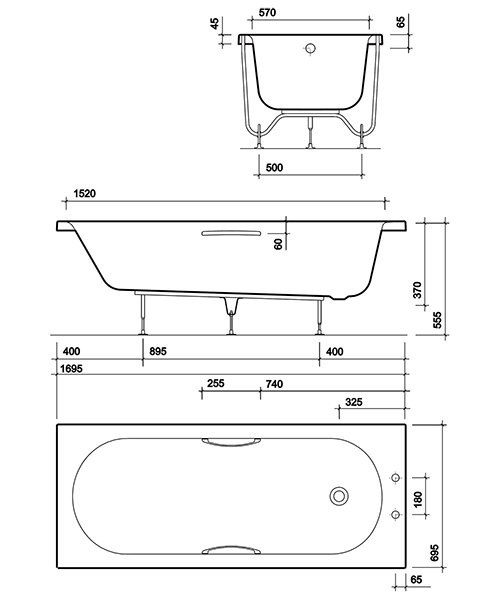 Technical drawing 49335 / OL8502WH