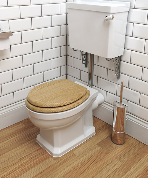 Additional image of Pura Imex Wyndham Traditional Toilet Low Level Set