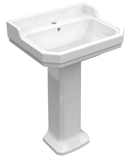 Pura Imex Wyndham 580mm Basin And Full Pedestal