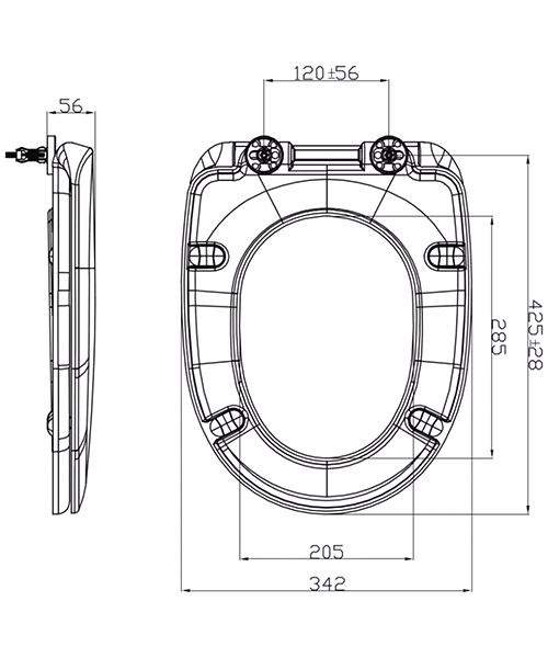 Technical drawing 46956 / S1076SCQR