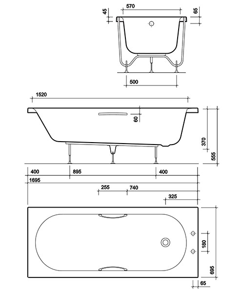 Technical drawing 49336 / OL8500WH