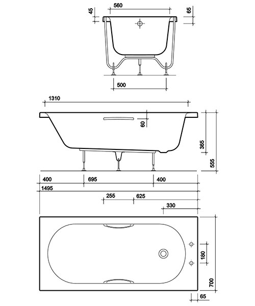 Technical drawing 49337 / OL8422WH