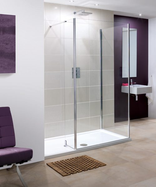 Lakes Coastline Andora 8mm Walk In Shower Panel Only