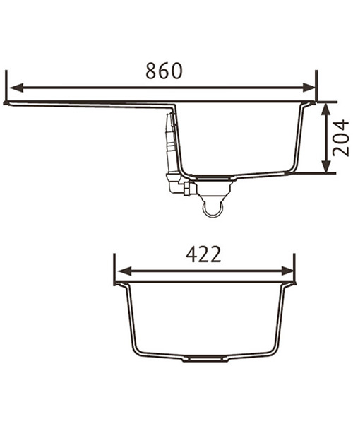 Technical drawing 39001 / AME860CW/