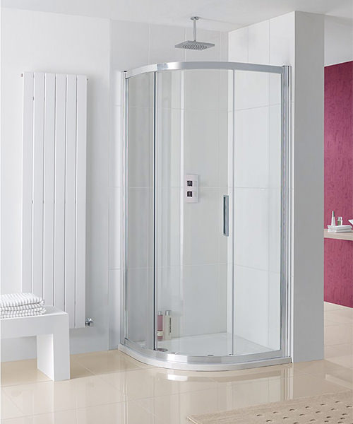 Lakes Coastline Sorong Single Door Offset Quadrant Enclosure 900 x 760mm