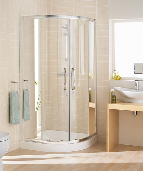 Lakes Mirror Glass Single Rail Quadrant Enclosure 800mm