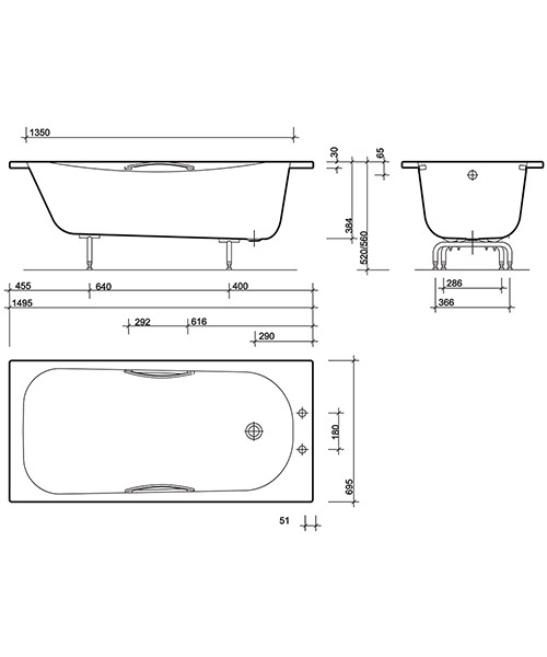 Technical drawing 7479 / NE9402WH
