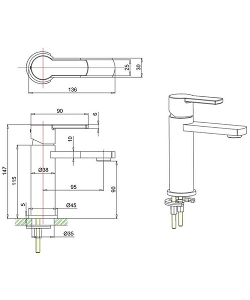 Technical drawing 49482 / WP114DNC