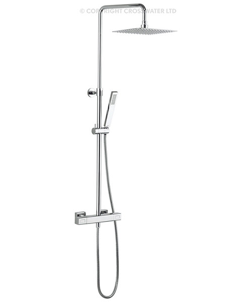 Crosswater Atoll Square Thermostatic Rigid Riser With Head And Handset
