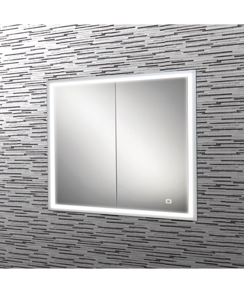 Additional image of HIB Vanquish 60 Double Door LED Demisting Recessed Cabinet 630 x 730mm