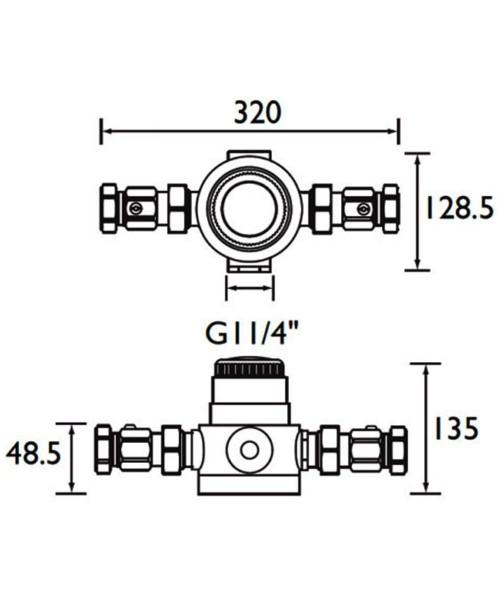 Technical drawing 3335 / TS6000ECP