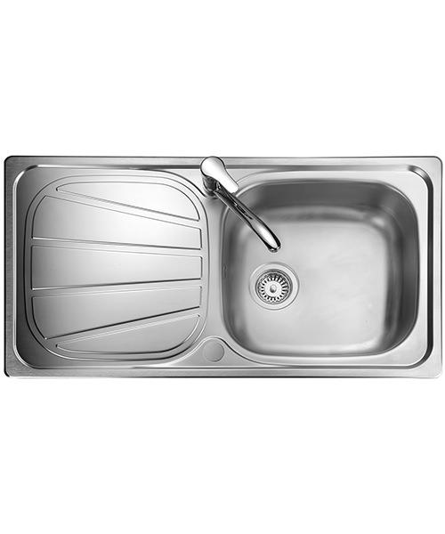 Rangemaster Baltimore Kitchen Stainless Steel 1.0 Bowl Sink