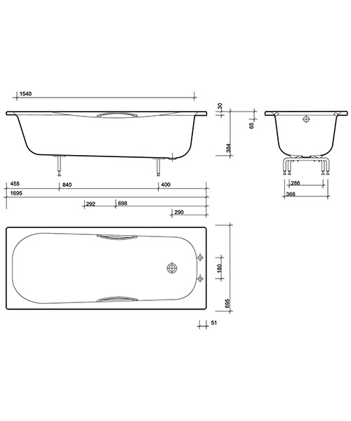 Technical drawing 48643 / NE9572WH