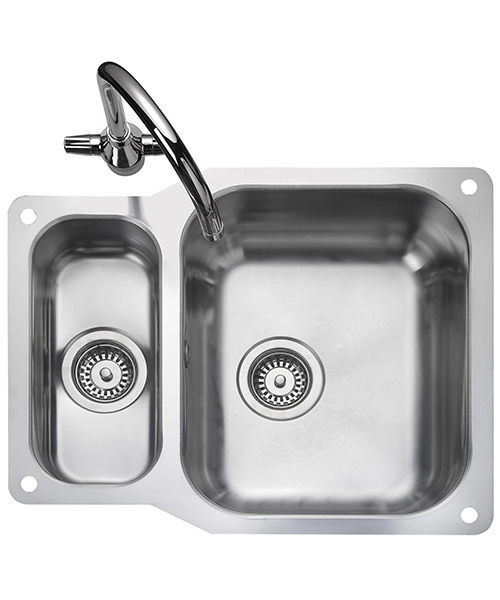 rangemaster kitchen sinks rangemaster atlantic classic 1 5 bowl reversible 1721