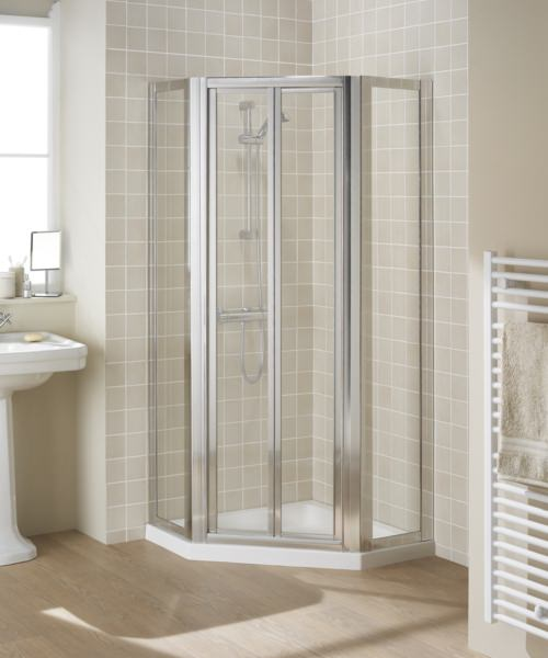 Lakes Classic Pentagon Enclosure With Bi-fold Or Pivot Door Option