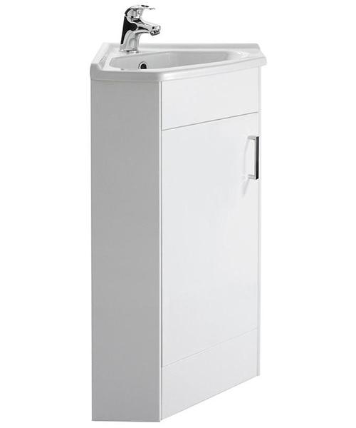 Nuie Premier Mayford 555mm 1 Door Corner Cabinet And Bathroom Sink