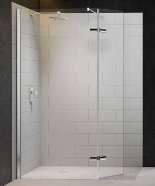 Merlyn 8 Series Walk In With Hinged Swivel Panel 1200 x 800mm