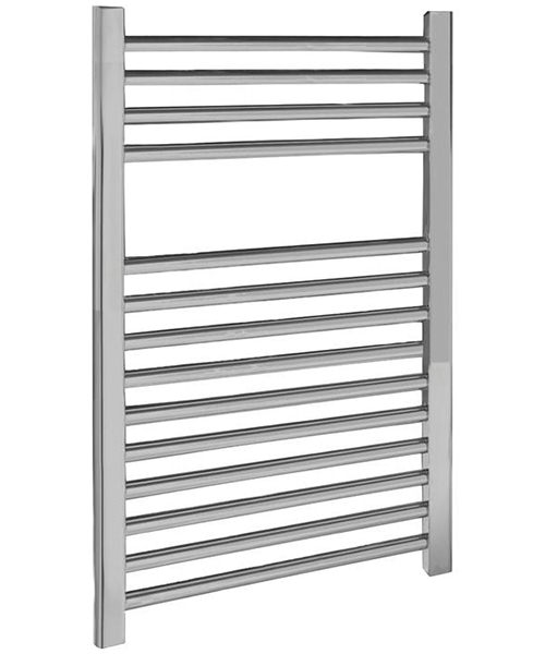 Nuie Premier 500 x 700mm Chrome Straight Heated Ladder Rail