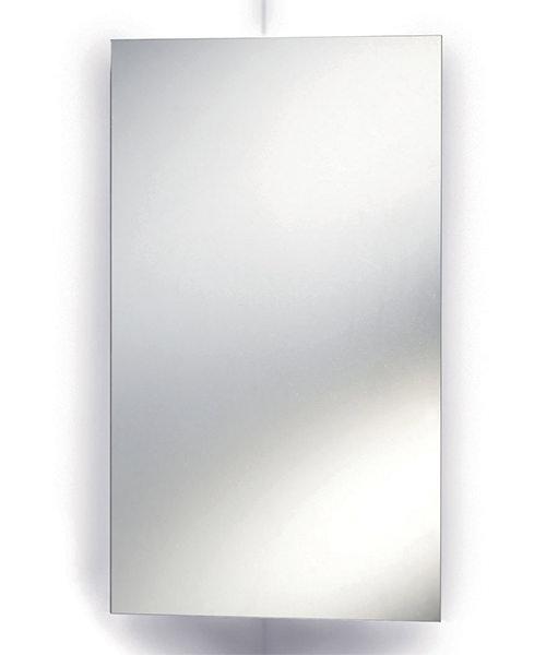 Lauren Avant 380 x 650mm Stainless Steel Corner Mirrored Cabinet