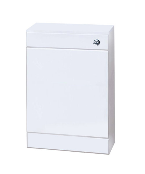 Nuie Premier Back-To-Wall Gloss White Cabinet With Concealed Cistern