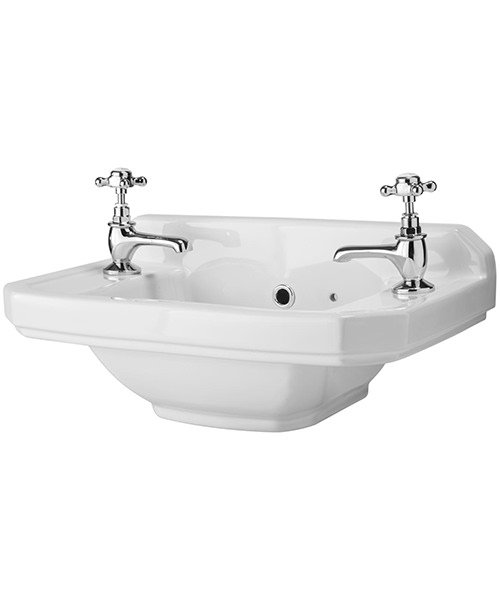 Lauren Carlton 515mm 2 Tap Hole Cloakroom Basin
