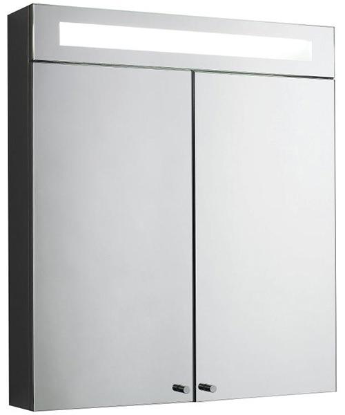 Lauren Tucson 620mm Double Door Mirrored Cabinet With Light