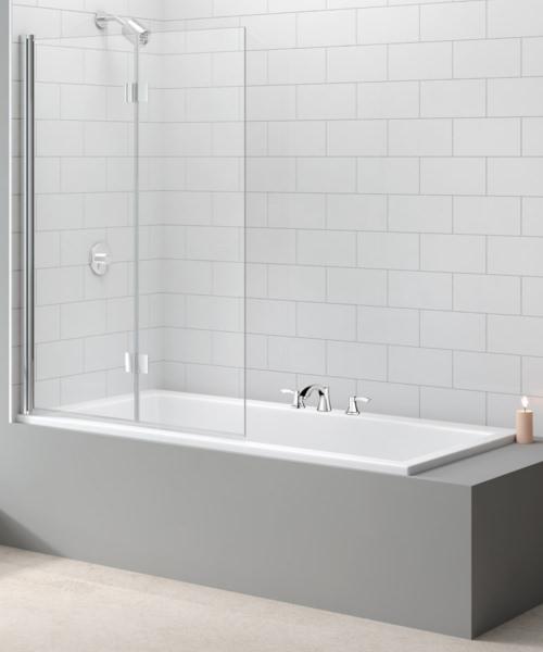 Merlyn Two Panel Folding Hinged Bath Screen 1100 x 1500mm