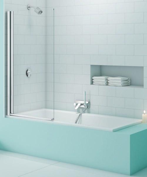 Merlyn SecureSeal Single Panel Bath Screen 800 x 1500mm