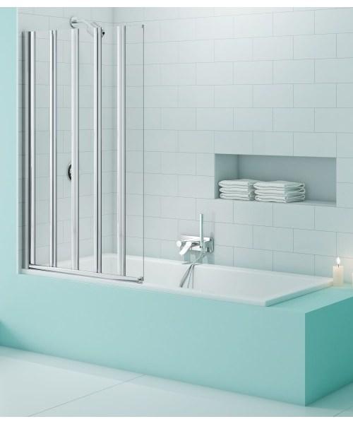 Merlyn SecureSeal 5 Fold Bath Screen 1000 x 1500mm