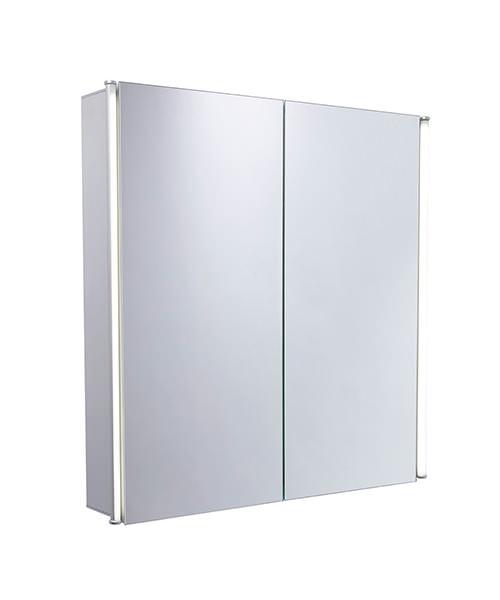 Tavistock Sleek 600mm Double Door Mirror Cabinet With LED Lighting