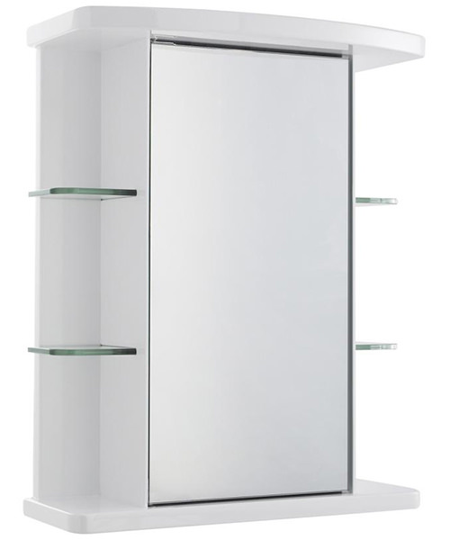 Lauren Congress 530mm Single Door Mirrored Cabinet With Light