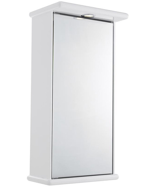 Lauren Niche 400mm Single Door Mirrored Cabinet With Light