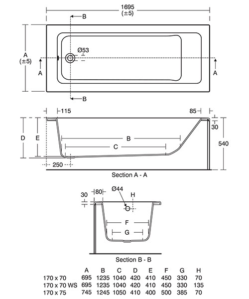 Technical drawing 42389 / E258001