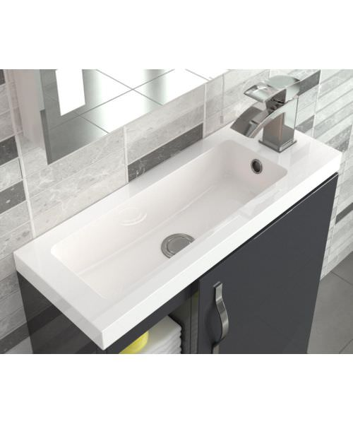 Additional image of Hudson Reed Apollo Compact 500mm Cashmere Wall Hung Cabinet With Basin