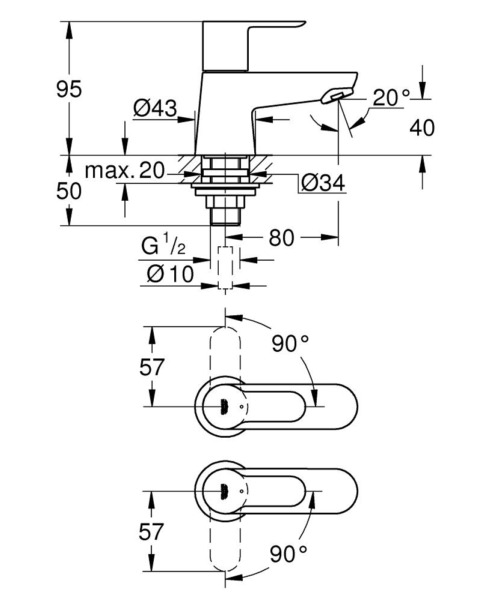 Technical drawing 51637 / 2042100M