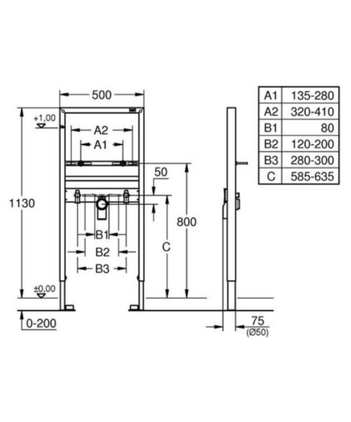 Technical drawing 51696 / 38554001