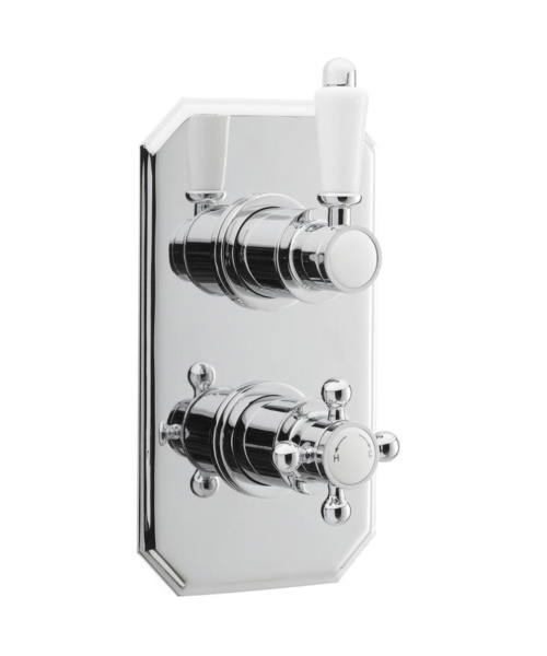 Nuie Premier Victorian Thermostatic Twin Concealed Shower Valve